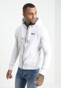 Superdry - LABEL ZIPHOOD - Zip-up hoodie - ice marl - 0