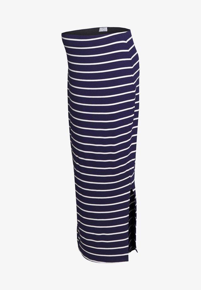 STRIPE MIDI SKIRT - Pencil skirt - navy