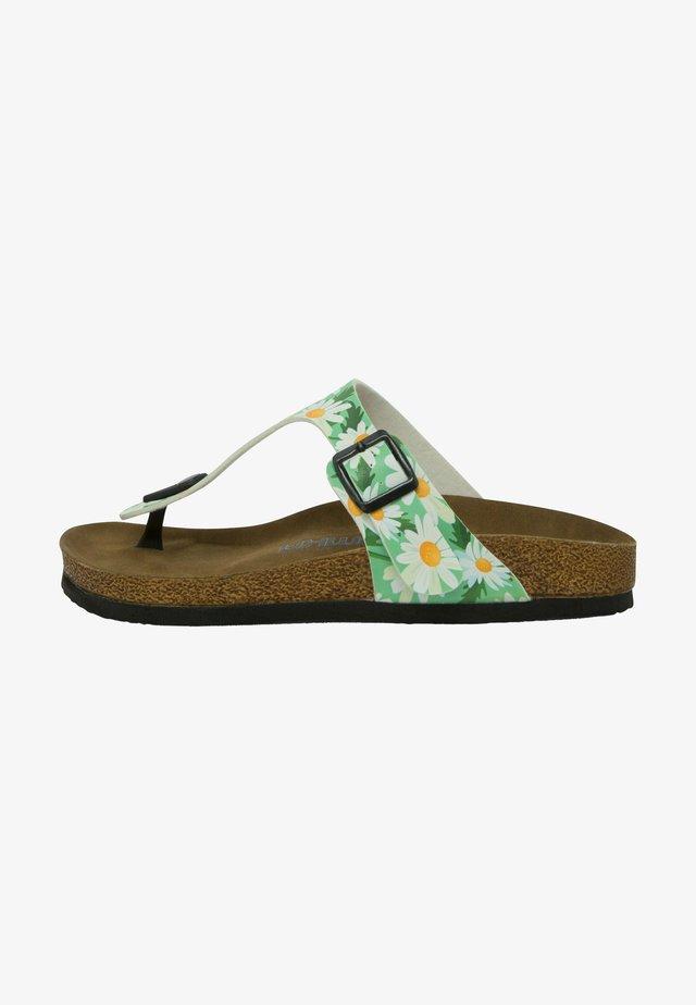 Sandalias planas - multicolor