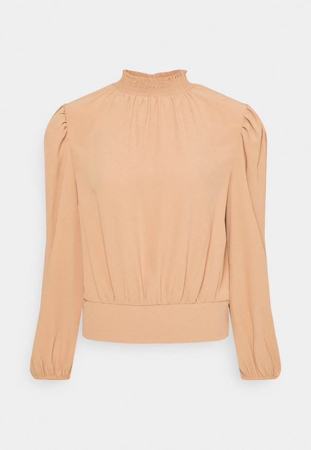 BALLOON SLEEVE - Long sleeved top - camel
