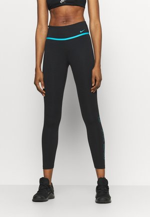 ONE 7/8 - Legginsy - black/chlorine blue
