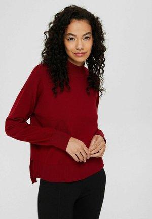 MIT STEHKRAGEN - Pullover - dark red