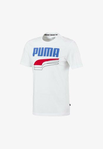 REBEL BOLD  - T-shirt con stampa - puma white palace blue
