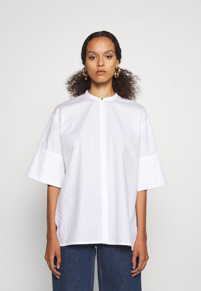 SHIRT WITH SPLITS - Tunic - white