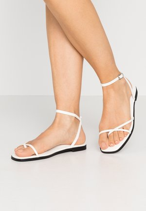 WIDE FIT CANYON - T-bar sandals - white