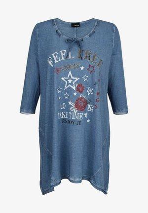 Long sleeved top - jeansblau