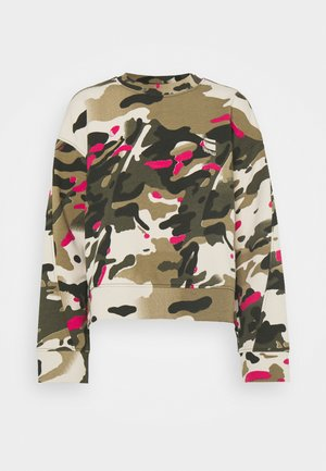 LOOSE FIT CAMO CREWNECK - Mikina - whitebait/multi