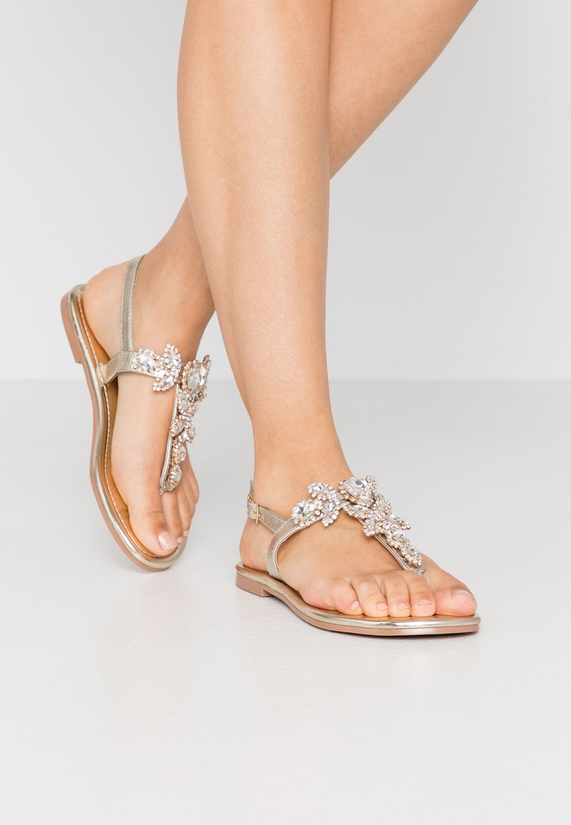 River Island - T-bar sandals - gold
