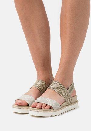 HOPE - Platform sandals - light green/beige