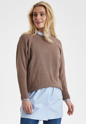 DRHILENA  - Stickad tröja - sand melange
