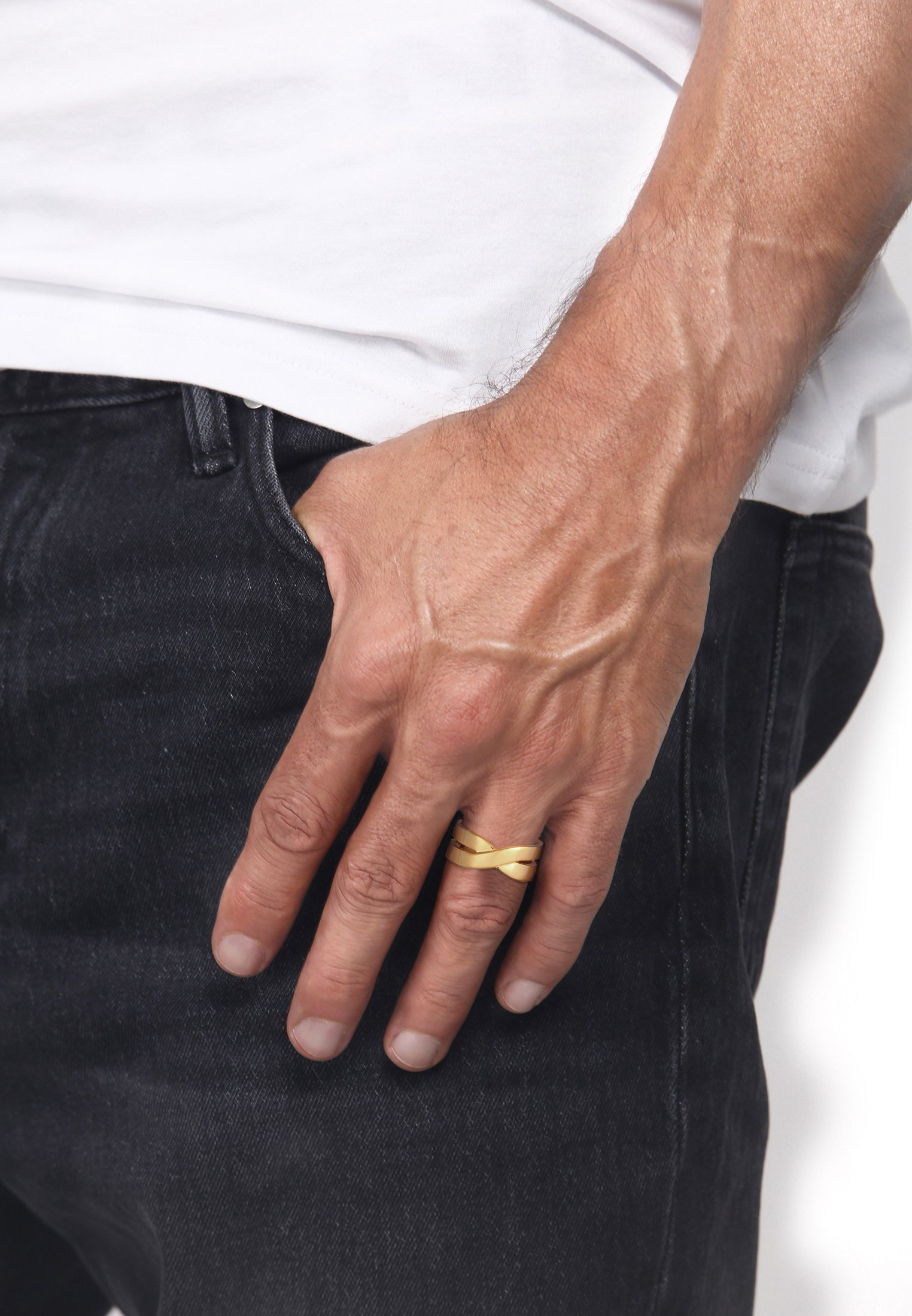 Homme CROSSOVER LOOK - Bague