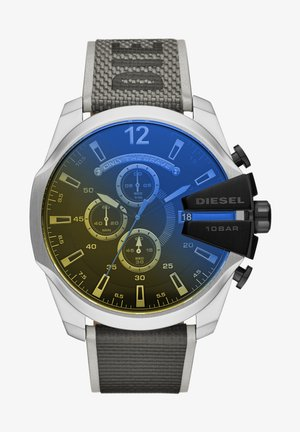 MEGA CHIEF - Digital watch - black,gray,yellow