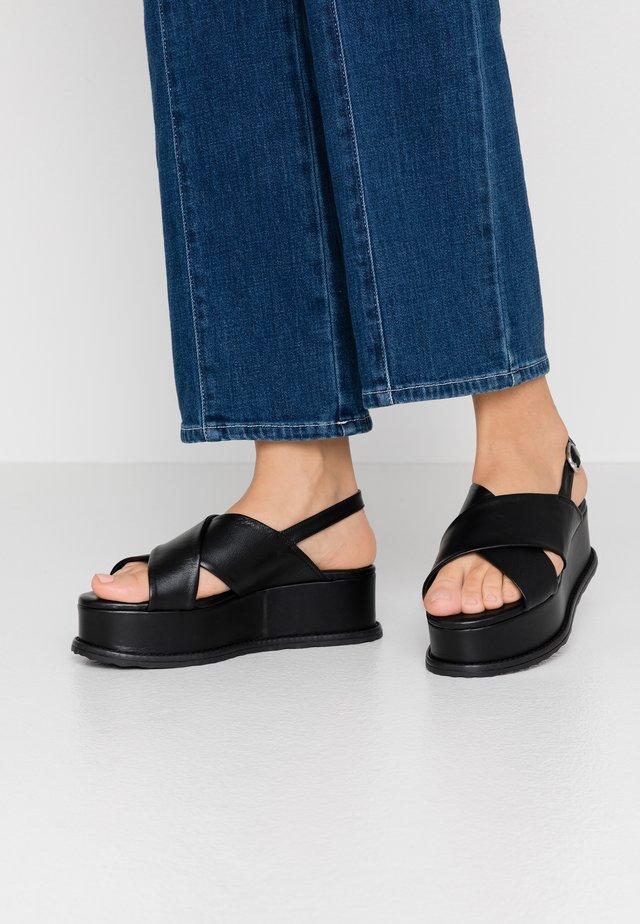 MAURITIUS - Korkeakorkoiset sandaalit - nero