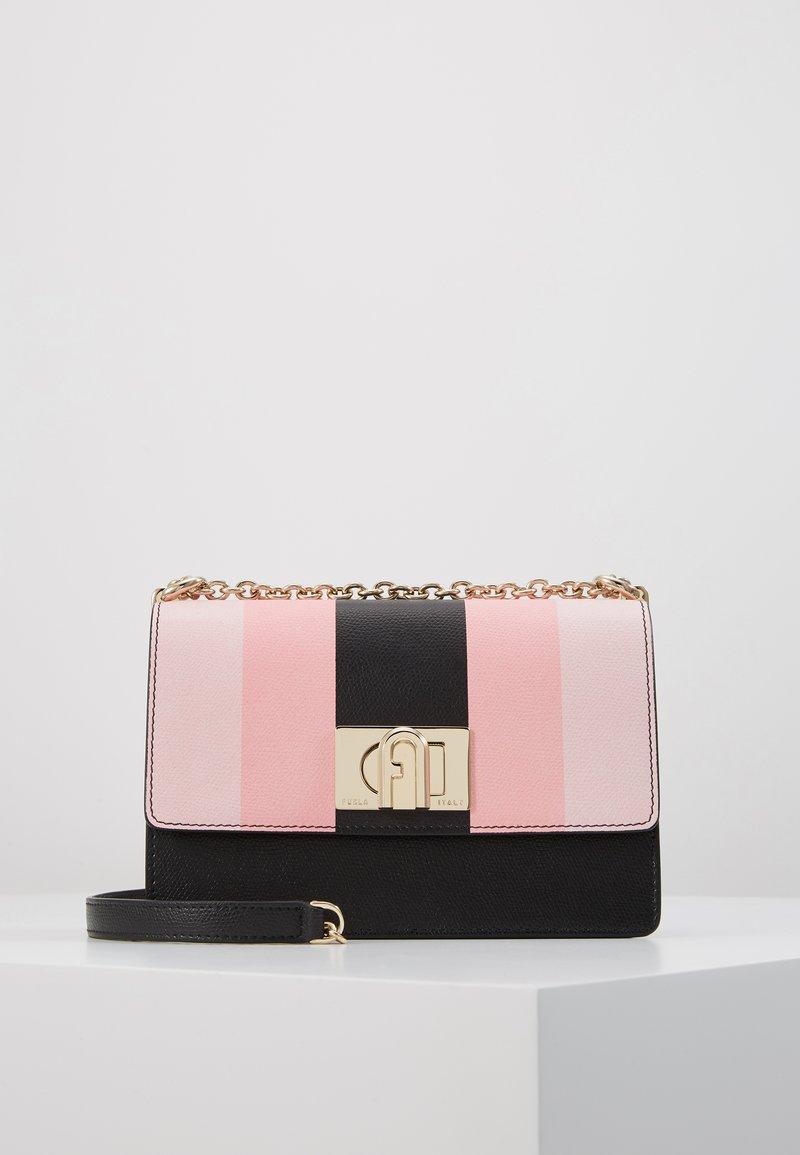 Furla - MINI CROSSBODY BLOCK - Across body bag - rosa/chiaro/nero