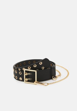 PCLILA WAIST BELT - Waist belt - black/gold-coloured