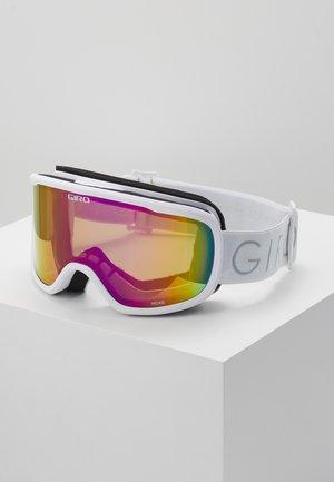 MOXIE - Ski goggles - white core light/amber pink