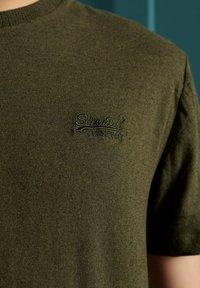 Superdry - OL VINTAGE EMB  - Basic T-shirt - winter khaki grit - 1