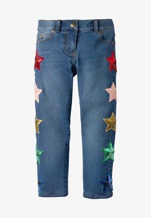 Straight leg jeans - mittleres vintageblau, denim/pailletten