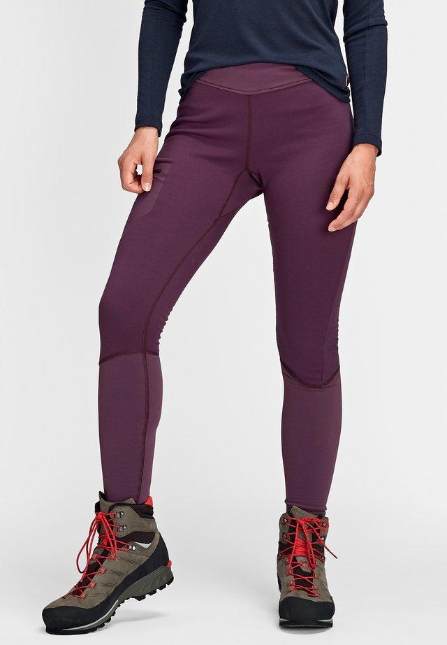 ACONCAGUA LONG - Leggings - blackberry