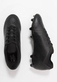 Umbro - VELOCITA CLUB FG - Scarpe da calcetto con tacchetti - black/carbon - 1