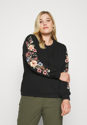 CARSONNY O NECK - Sweatshirt - black