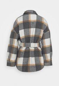 Pieces - PCSELMA OVERSHIRT JACKET - Summer jacket - white/grey/natural - 1