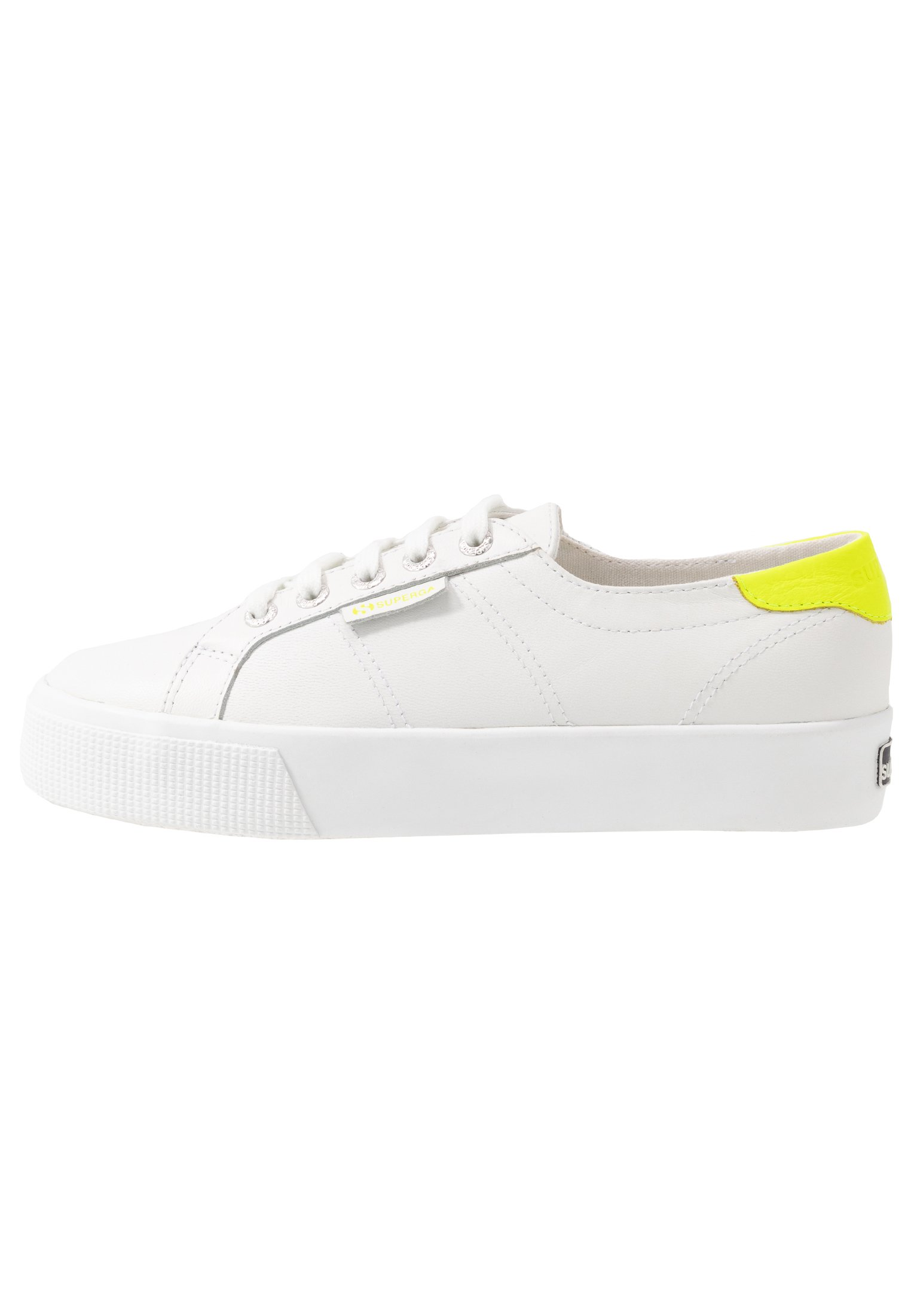 2736 Sneaker low whiteyellow fluo