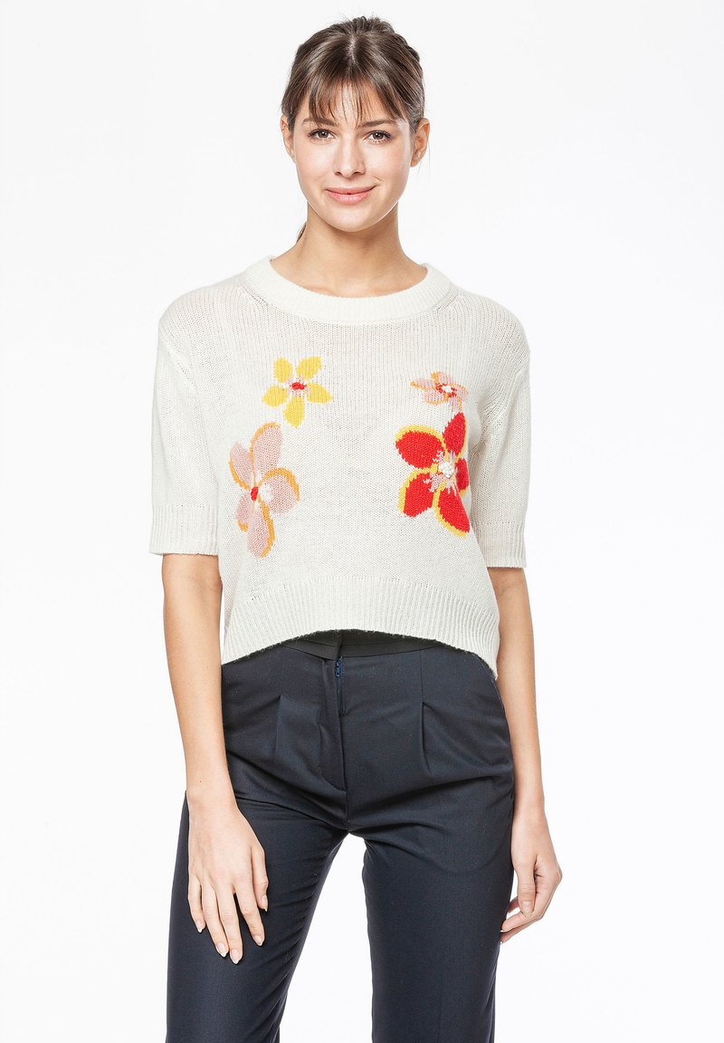 Rosa & Me - FLORA - Print T-shirt - star white