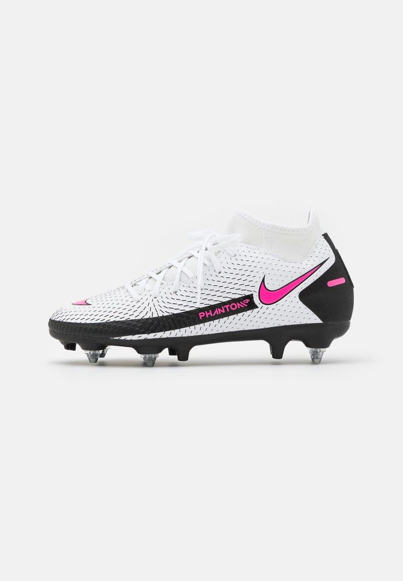 Nike Performance - PHANTOM GT ACADEMY DF SGPRO AC - Screw-in stud football boots - white/pink blast/black