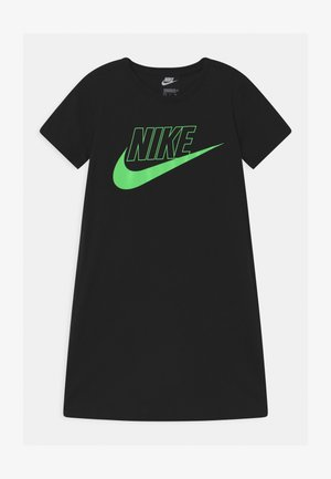 FUTURA  - Jersey dress - black/vapor green