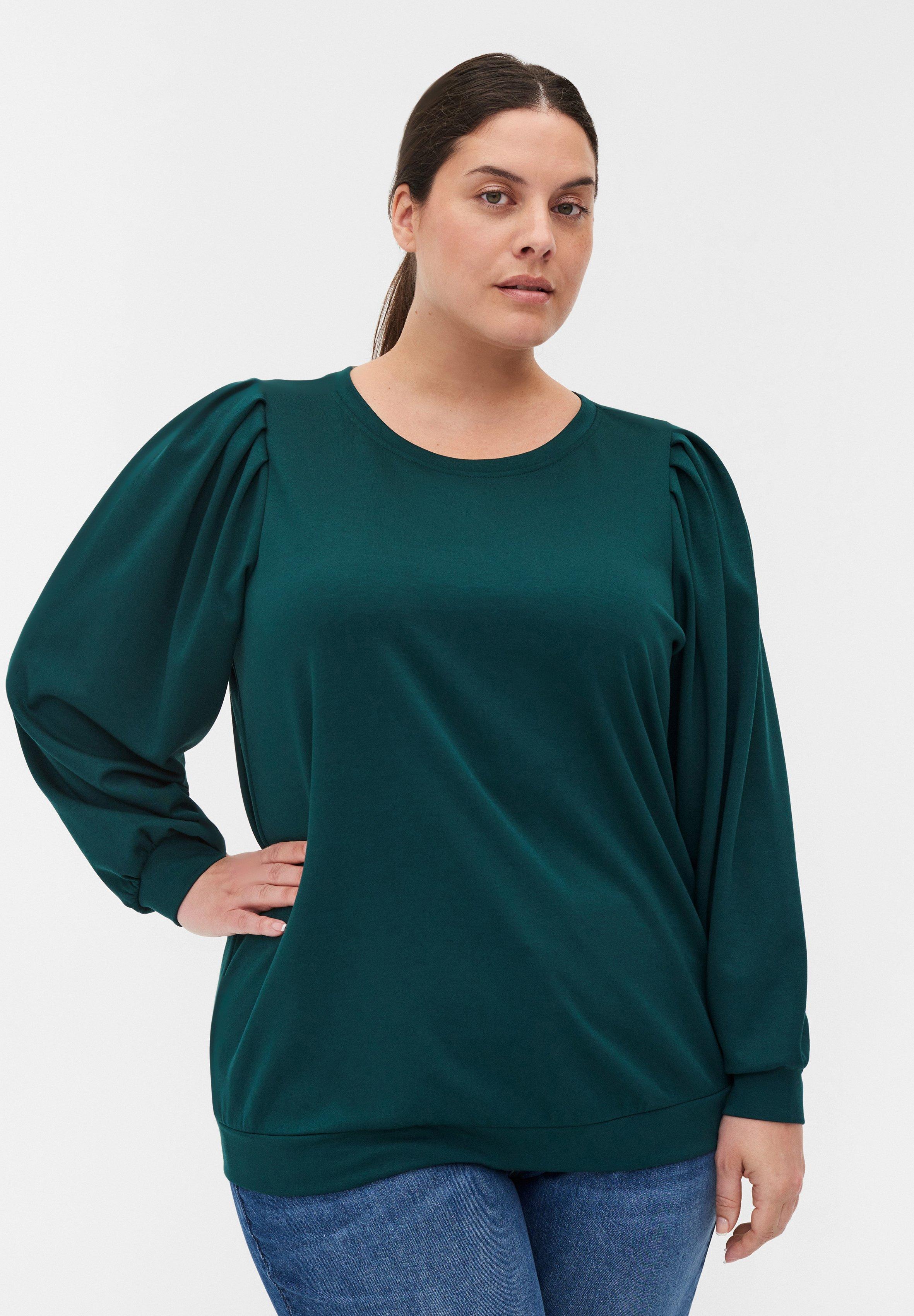 Femme MIT RUNDHALS UND BALLONÄRMELN - T-shirt à manches longues