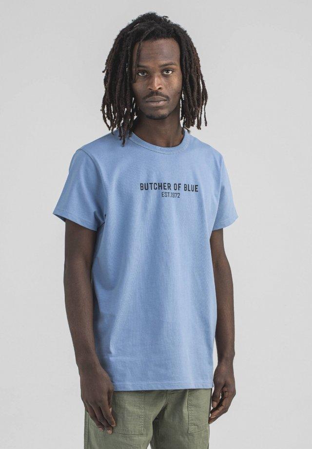 Print T-shirt - meissen blue