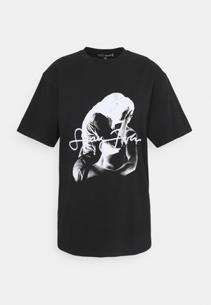 SJXMG GRAPHIC - Print T-shirt - black