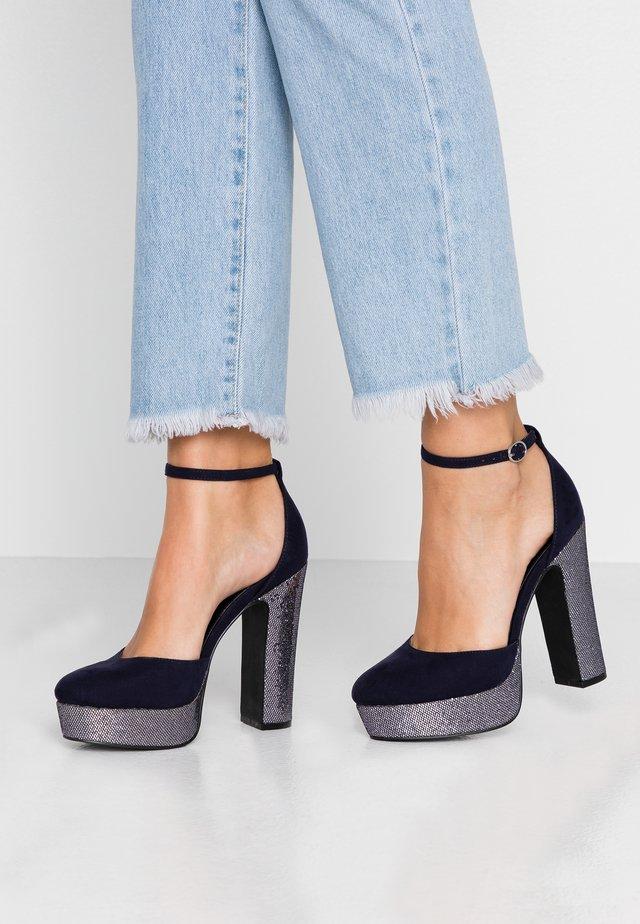 Zapatos altos - dark blue