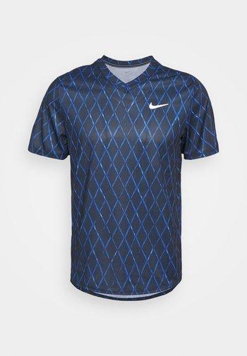 T-shirt con stampa - obsidian/white