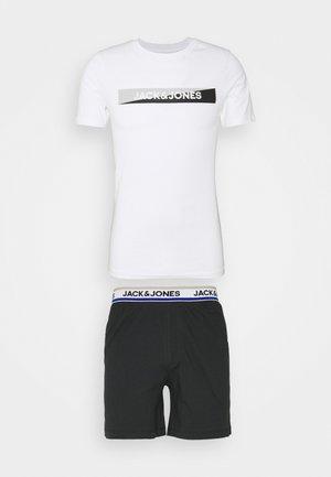 JACSHAWN SHORT PANTS SET - Pyjama set - black/white