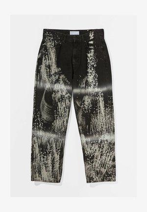 MIT TIE DYE - Jeans a sigaretta - black