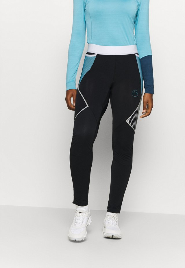 PIRR PANT  - Legging - black/pacific blue