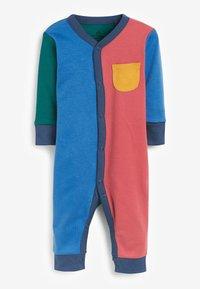 Next - 3 PACK COLOURBLOCK FOOTLESS SLEEPSUITS - Sleep suit - blue - 4