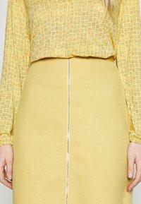 Esprit - A-line skirt - yellow - 4