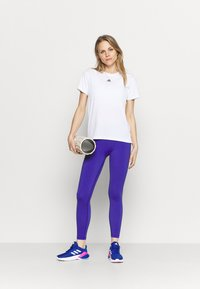 adidas Performance - NECESSI TEE - T-shirts med print - white/black - 1