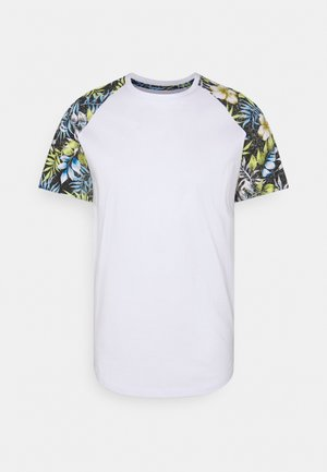 JJFLOWER TEE CREW NECK - T-shirt print - black