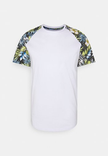 JJFLOWER TEE CREW NECK - Print T-shirt - black