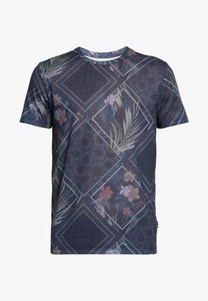 TILE ALL OVER ONLINE - T-shirt print - navy