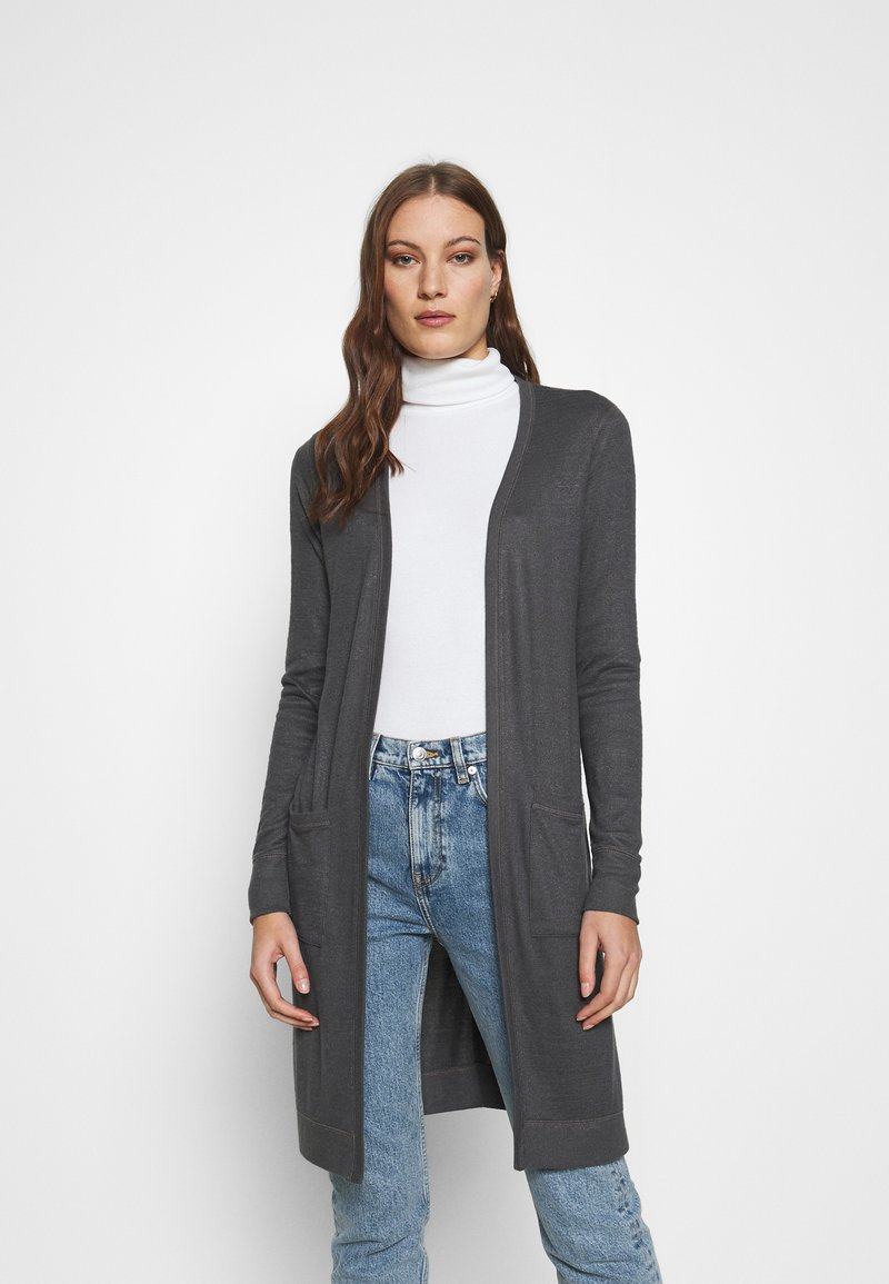 Abercrombie & Fitch - COZY DUSTER - Cardigan - black