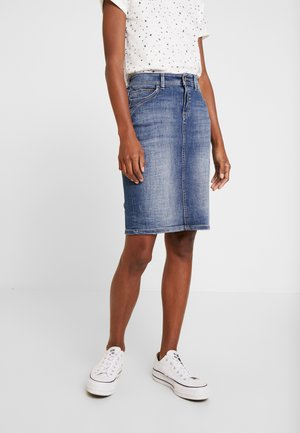PENCIL SKIRT - Denim skirt - blue dark