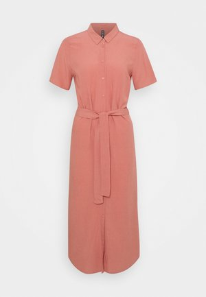 PCCECILIE LONG DRESS - Skjortekjole - canyon rose