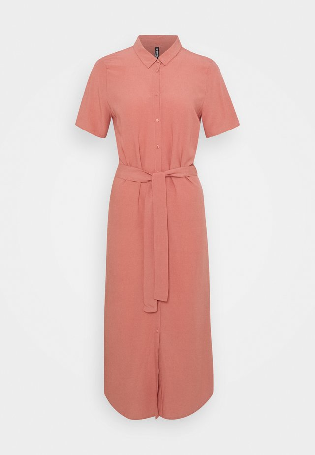 PCCECILIE LONG DRESS - Sukienka koszulowa - canyon rose