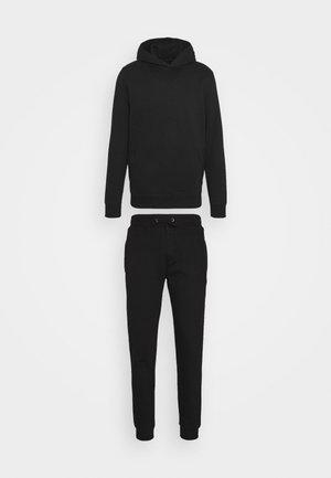 REGULAR FIT OVERHEAD AND JOGGER SET 2 PACK - Dres - black