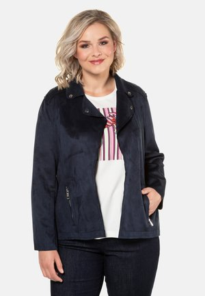 Faux leather jacket - marine